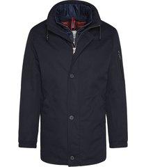 bugatti jas donkerblauw rits- en knoopsluiting