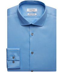 calvin klein infinite blue extreme slim fit dress shirt