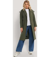 trendyol trenchcoat - green