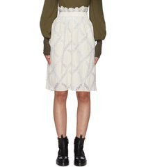 lace applique cady skirt