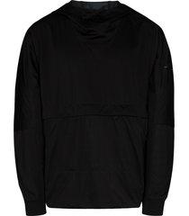 stone island shadow project lightweight pull-on hoodie - black