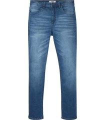 jeans elasticizzati con cavallo rinforzato regular fit straight (blu) - john baner jeanswear