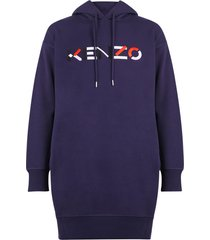 kenzo embroidered cotton dress