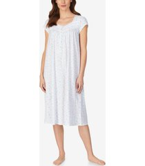 eileen west knit floral print ballet nightgown