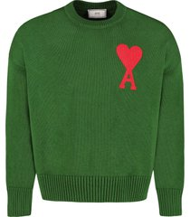 ami alexandre mattiussi long sleeve crew-neck sweater