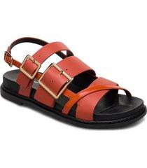 stb-joy multi strap l shoes summer shoes flat sandals orange shoe the bear
