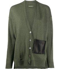 zadig & voltaire scarlett one-pocket cardigan - green
