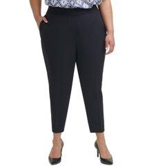 calvin klein trendy plus size pull-on pants
