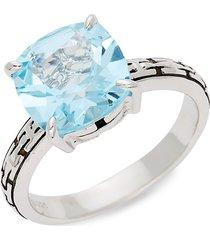 effy women's sterling silver & sky blue topaz ring - size 7
