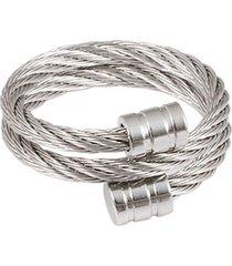 anillo ajustable estilo romano de acero inoxidable para hombre