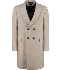 z zegna double-breasted wool and cashmere coat