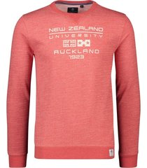 new zealand hawdon sweater rood melange ronde hals