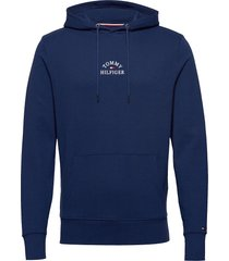 basic embroidered ho hoodie trui blauw tommy hilfiger