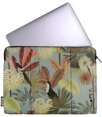 estuche laptop estampado tropical citybags multicolor