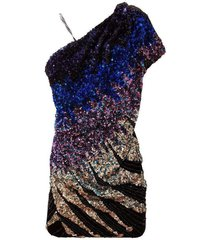 silk one shoulder cocktail dress