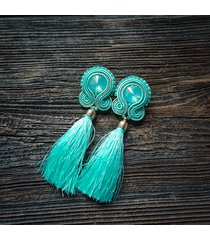 aquamarine - kolczyki sutasz z chwostami
