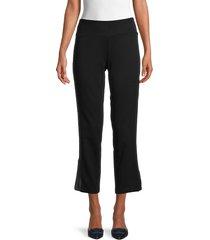 eileen fisher women's slim cropped pants - black - size l