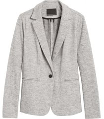 blazer knit gris banana republic