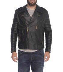 chaqueta de cuero negro biko