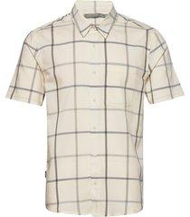mens compass ss shirt overhemd met korte mouwen crème icebreaker