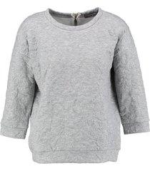 vero moda grijze padded sweater 3/4 mouw