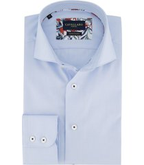 blauw overhemd cavallaro slim fit