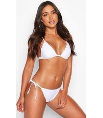 mix & match tie side bikini brief, white