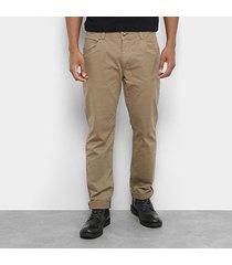calça sarja reta jab básica cintura média masculina