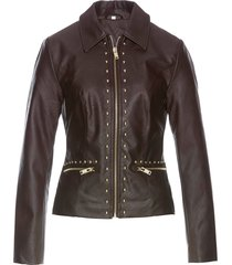 giacca in similpelle con borchie (marrone) - bpc selection premium