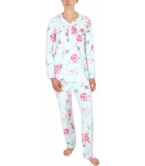 miss elaine printed knit pajamas set