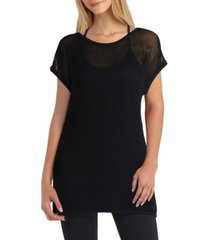 women's short sleeve pullover mesh top