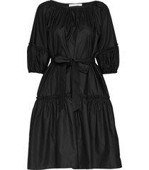 midi short sleeve dress knälång klänning svart cathrine hammel