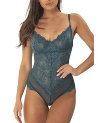 women's unlined lace teddy with underwire