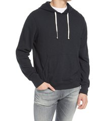 rails mammoth cotton hoodie, size x-large in washed black at nordstrom