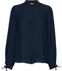 gia blouse blouse lange mouwen blauw filippa k