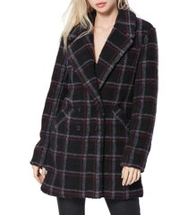 women's paige sabinah double breasted coat, size large - black