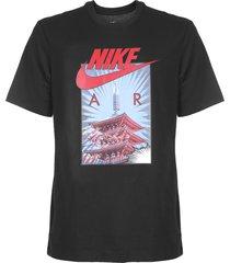 camiseta nike sportswear nsw air photo preta - kanui