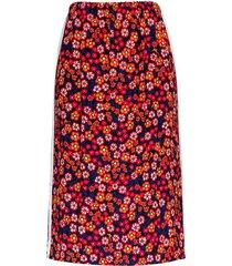 rechte rok met bloemenprint