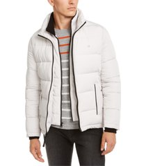 calvin klein men's full-zip puffer coat, created for macy's