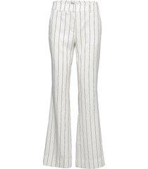 clara 447 long broek met wijde pijpen wit fiveunits