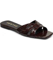 ashleygz sandal hs20 shoes summer shoes flat sandals brun gestuz