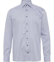 micro flower shirt overhemd business blauw eton