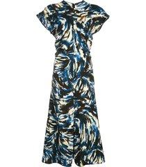 printed cady short sleeve dress