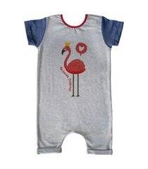 pijama curto comfy flamingo