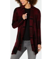 style & co plaid jacquard cardigan sweater, created for macy's