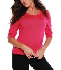 belldini black label puff sleeve pullover sweater