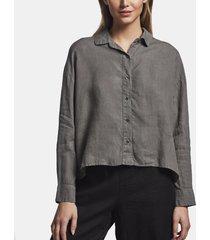 canvas linen boxy shirt