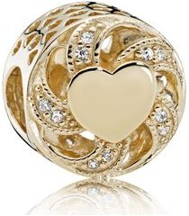 charm coração radiante de ouro - charm coração radiante de ouro -