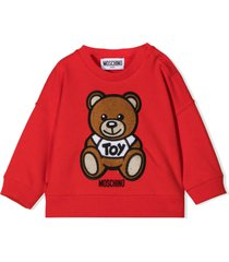 moschino red cotton and wool sweatshirt