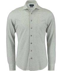knitted overhemd grijs